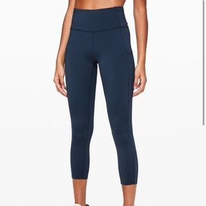 Lululemon Fast and Free high rise crop